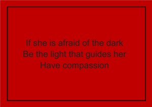 if she is afraid of the dark