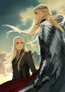 Elves by PSlenDy Fan Art / Digital Art / Drawings / Movies & TV©2015 PSlenDy #legolas #thehobbit #thranduil