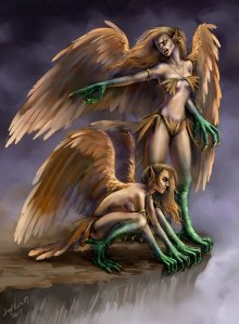 Harpies by Sophia-M Digital Art / Drawings & Paintings / Fantasy©2012-2015 Sophia-M