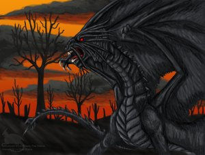 Jabberwock by Ravenfire5 Fan Art / Digital Art / Drawings / Other
