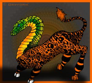Q is for Questing Beast  by Grifforik - Anthro / Digital Media / Drawings©2008-2015 Grifforik
