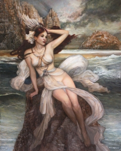 Siren by PinkParasol* Traditional Art / Paintings / Fantasy©2011-2015 PinkParasol