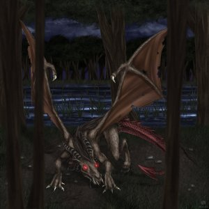 The Jersey Devil by Sparkleee-Sprinkle Digital Art / Drawings & Paintings / Macabre & Horror©2012-2015 Sparkleee-Sprinkle