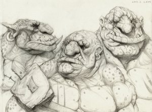 Trolls by Kimsuyeong81 Traditional Art / Drawings / Fantasy