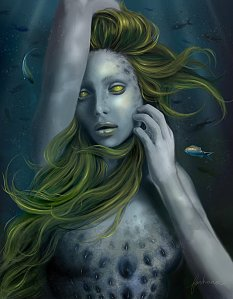 Undine by dewmanna* Digital Art / Drawings & Paintings / Fantasy©2011-2015 dewmanna